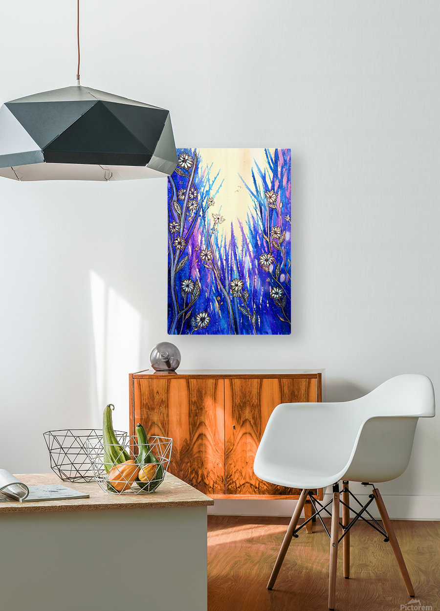 Wild Daisies  HD Metal print with Floating Frame on Back