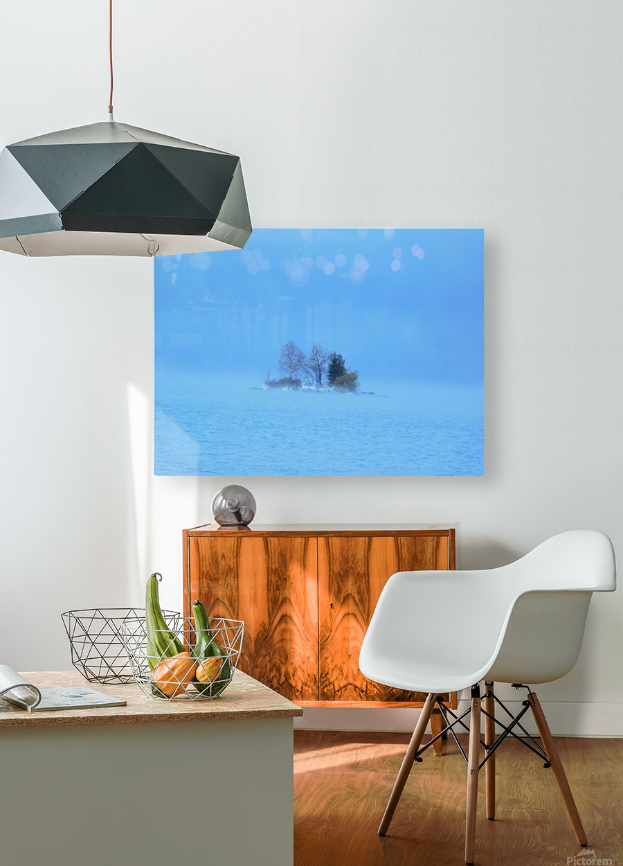 Frosty Morning on Georgian Bay  HD Metal print with Floating Frame on Back