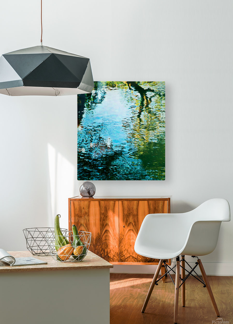 Nature reflections  HD Metal print with Floating Frame on Back