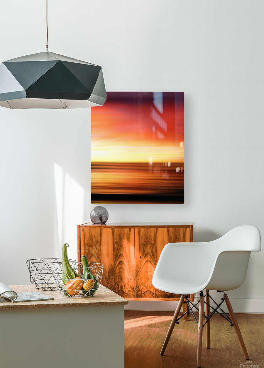 Abstract Landscape 7  HD Metal print with Floating Frame on Back