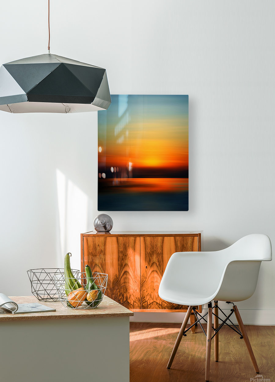 Abstract Landscape 9  HD Metal print with Floating Frame on Back