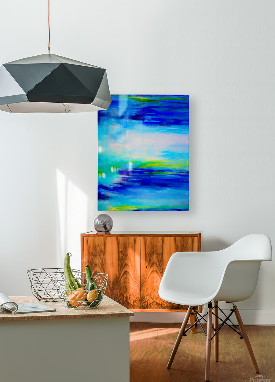 Abstract Landscape 11  HD Metal print with Floating Frame on Back