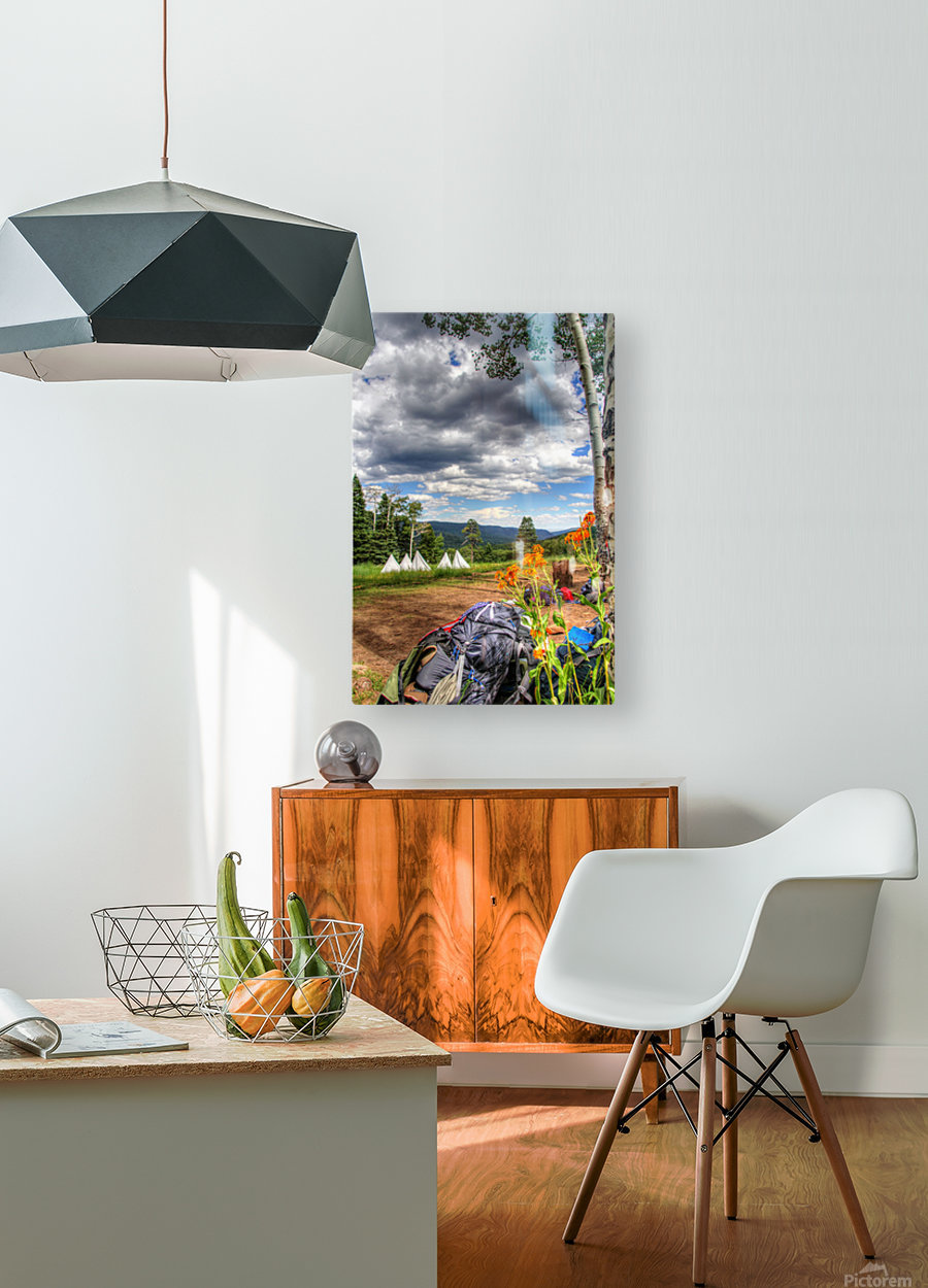 Rest with a View  HD Metal print with Floating Frame on Back