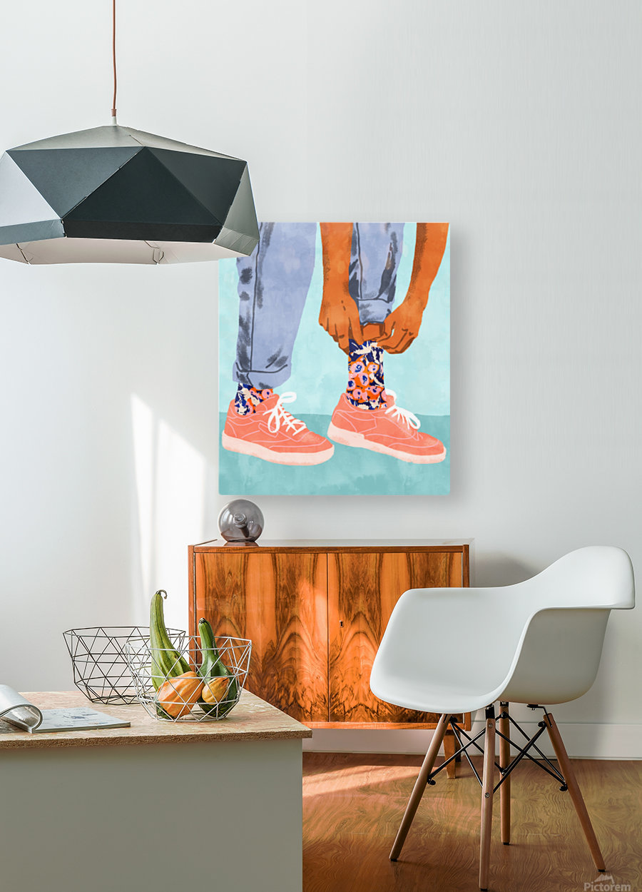 Pull Up Those Pretty Socks  HD Metal print with Floating Frame on Back