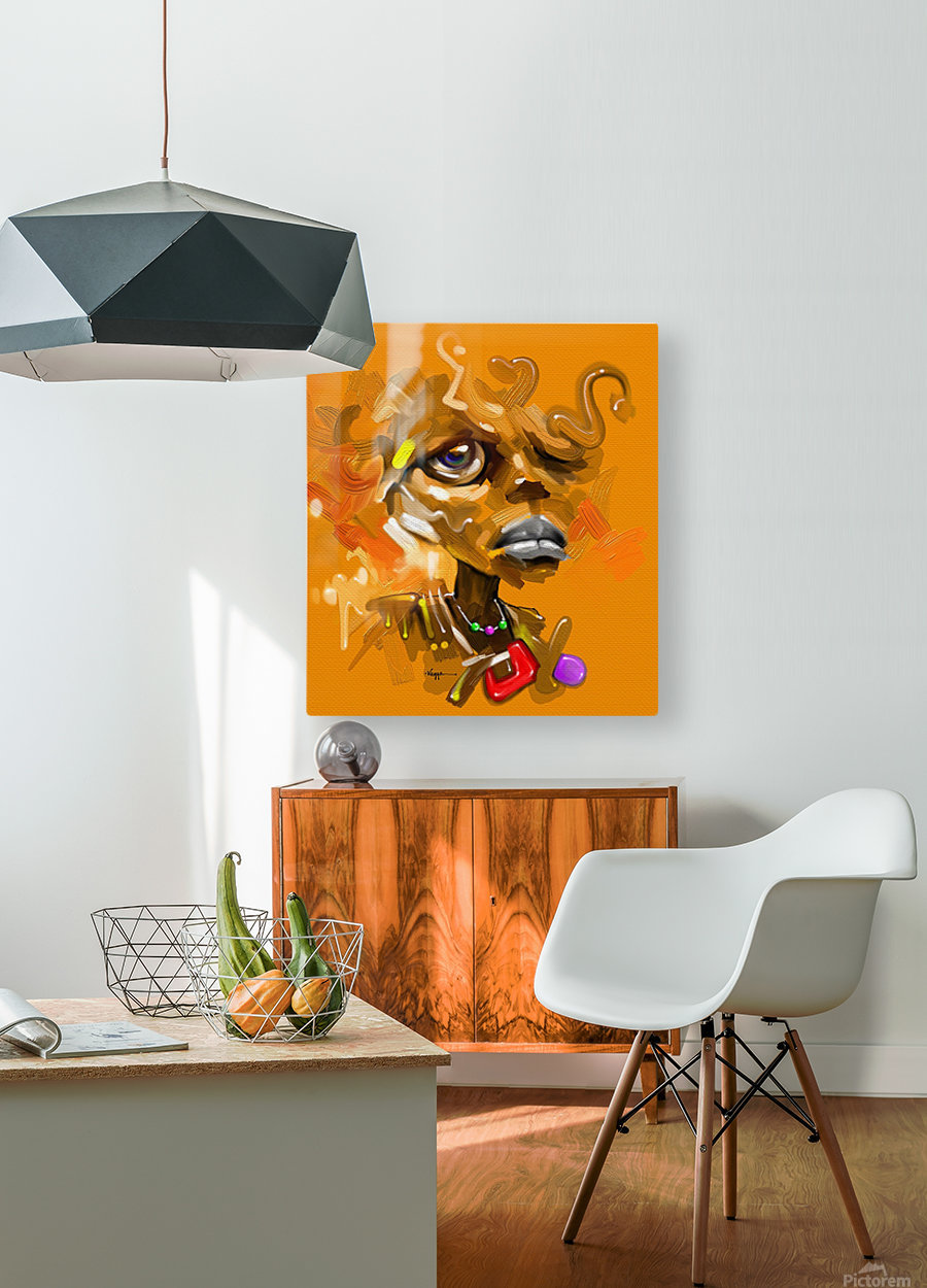 POLE  HD Metal print with Floating Frame on Back