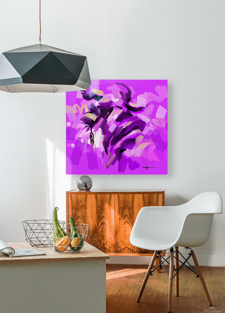 TAURUS  HD Metal print with Floating Frame on Back
