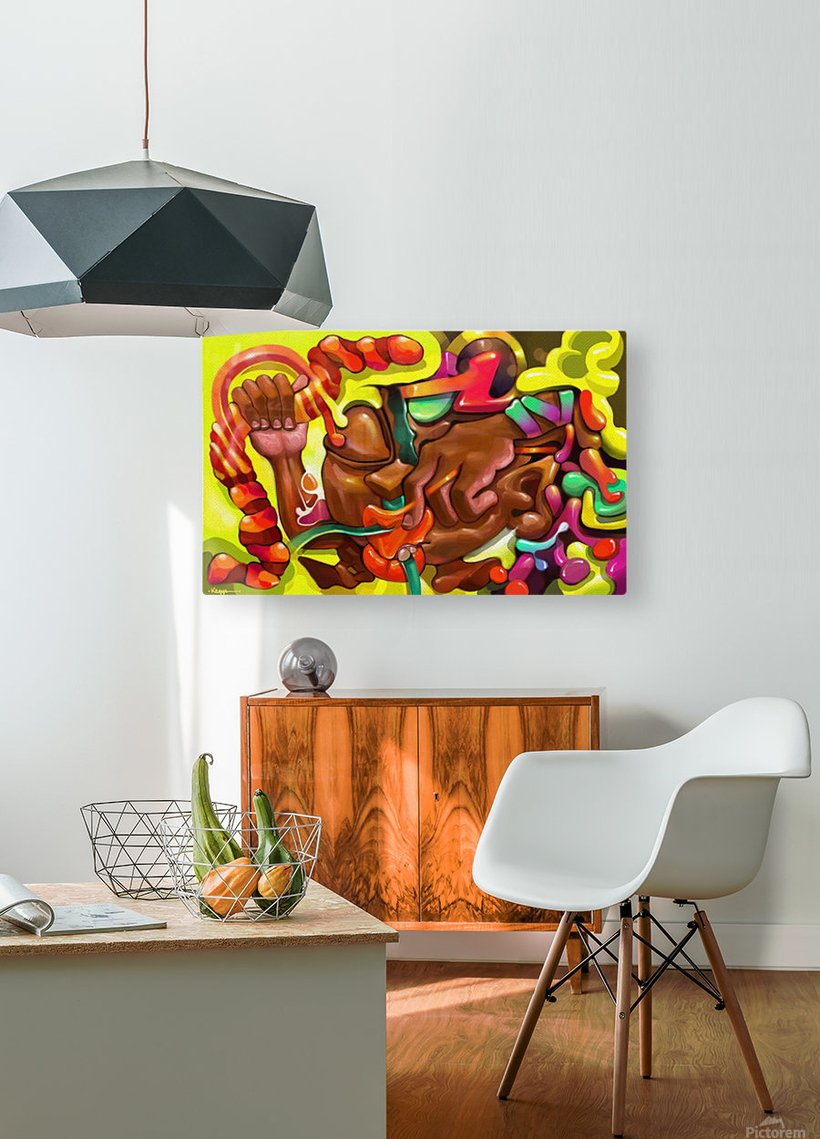 CHAD  HD Metal print with Floating Frame on Back