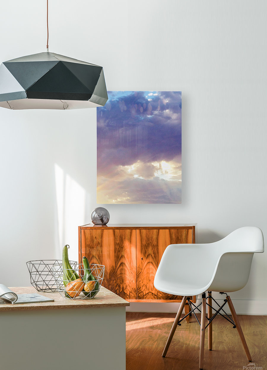 Beautiful cumullus  HD Metal print with Floating Frame on Back