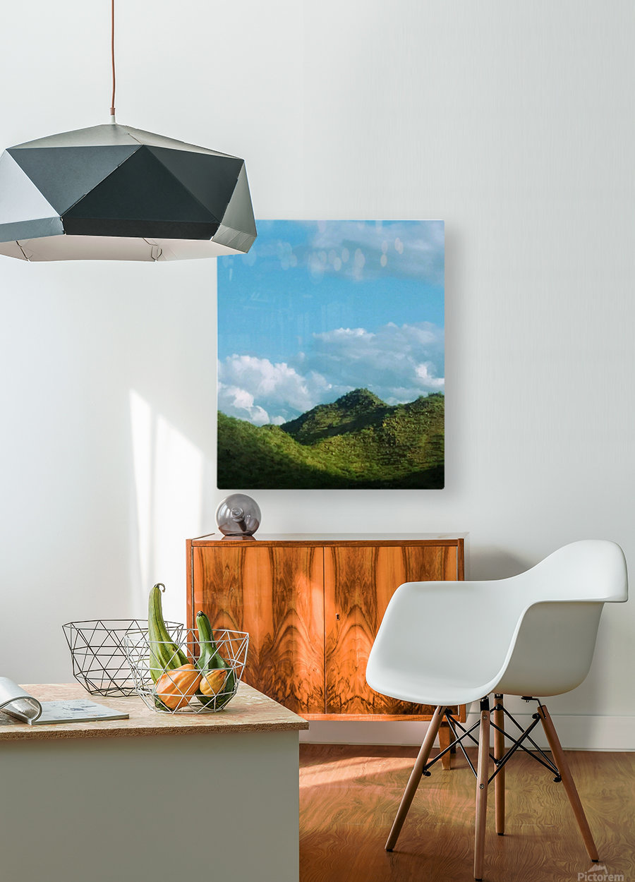 Rolling hills  HD Metal print with Floating Frame on Back