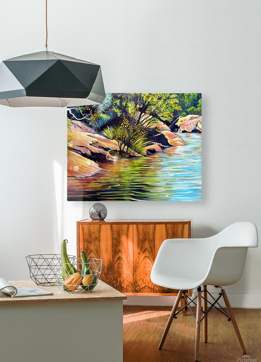 Jellybean Pool Australia  HD Metal print with Floating Frame on Back