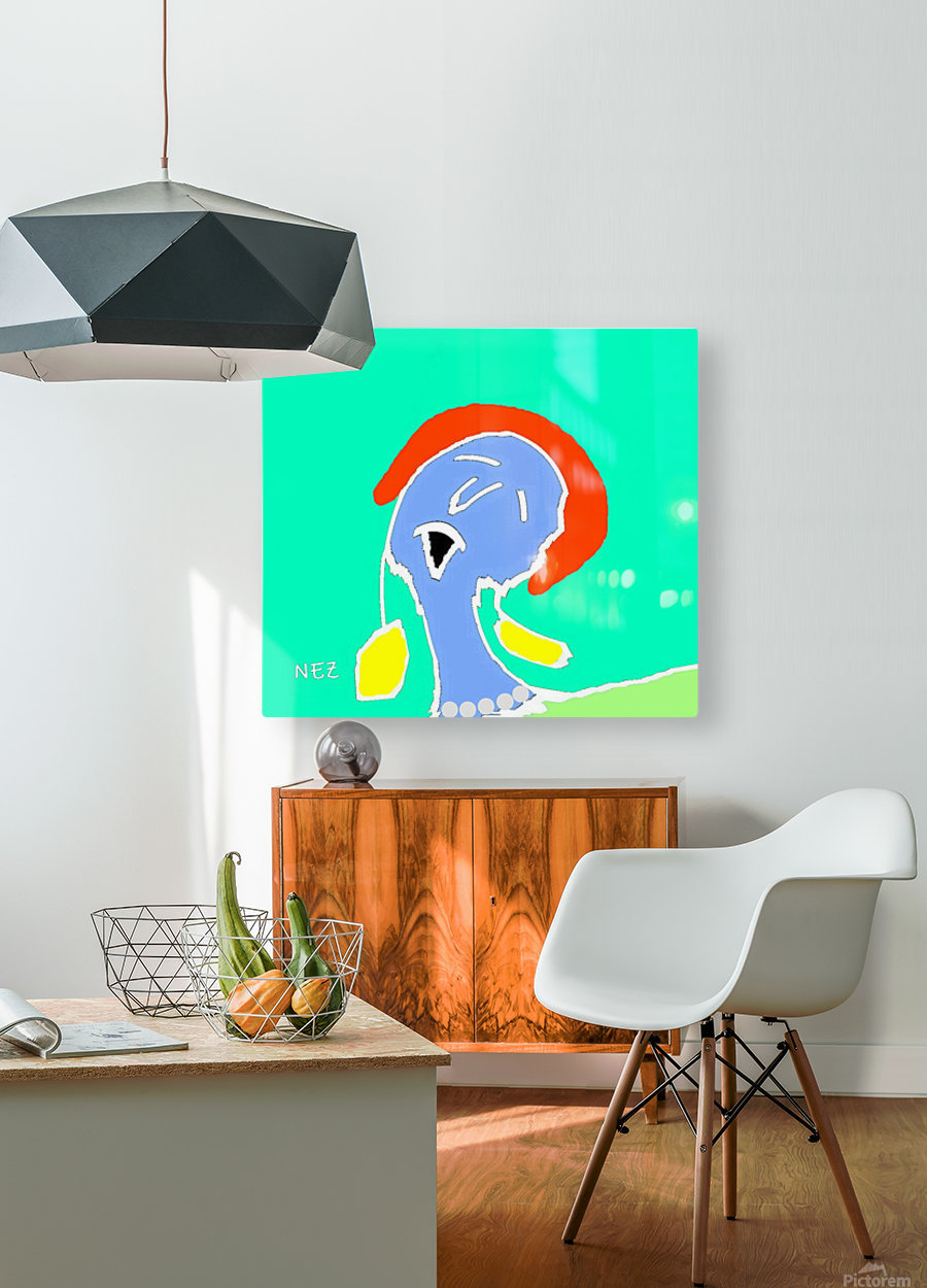 The Singer  HD Metal print with Floating Frame on Back