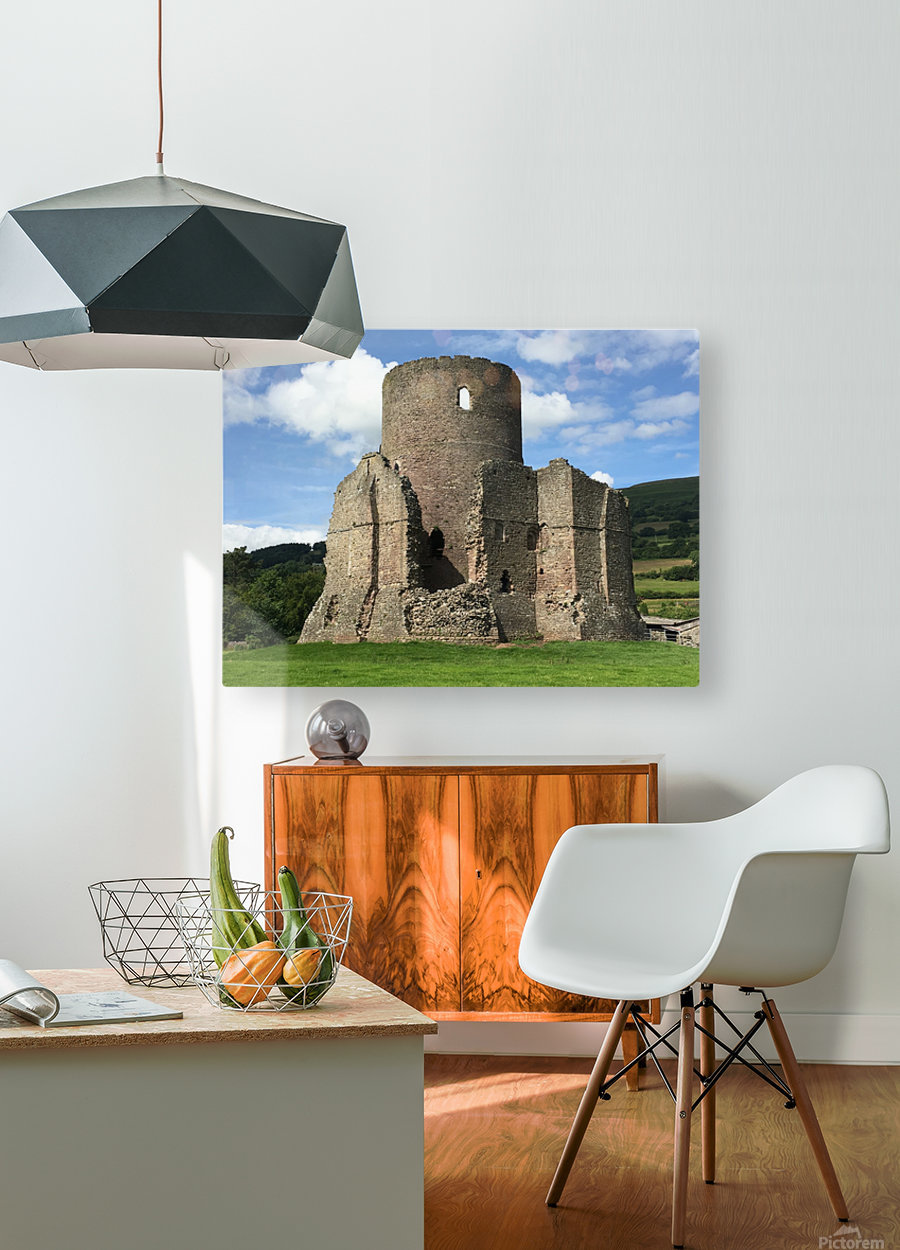 Treetower-Castle-Wales-1  HD Metal print with Floating Frame on Back