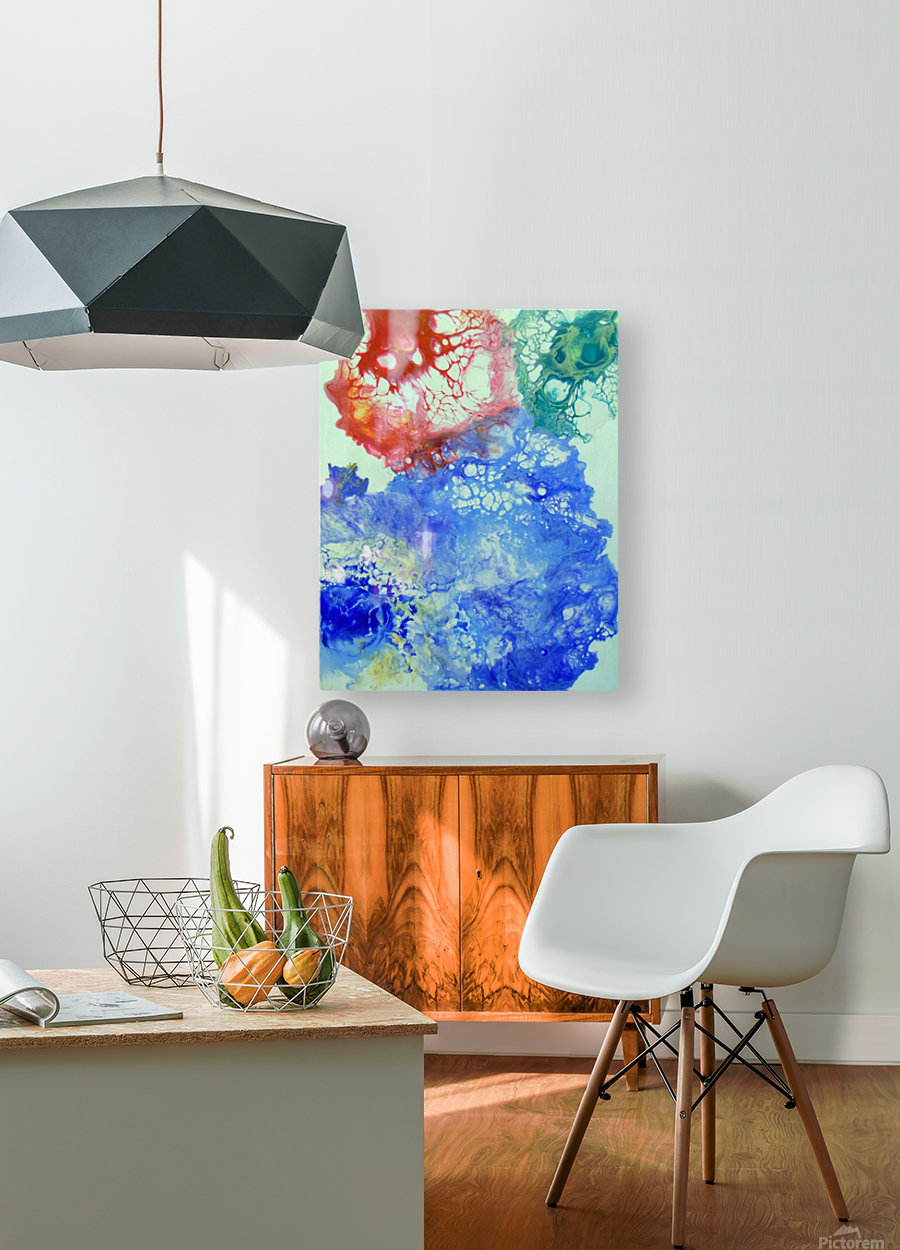 Game color  HD Metal print with Floating Frame on Back