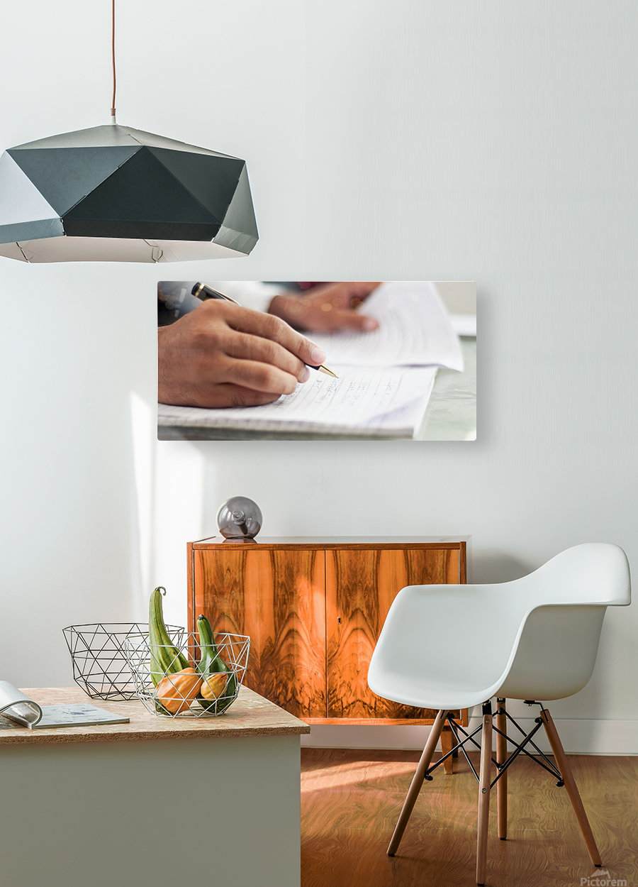 Writing Essays  HD Metal print with Floating Frame on Back