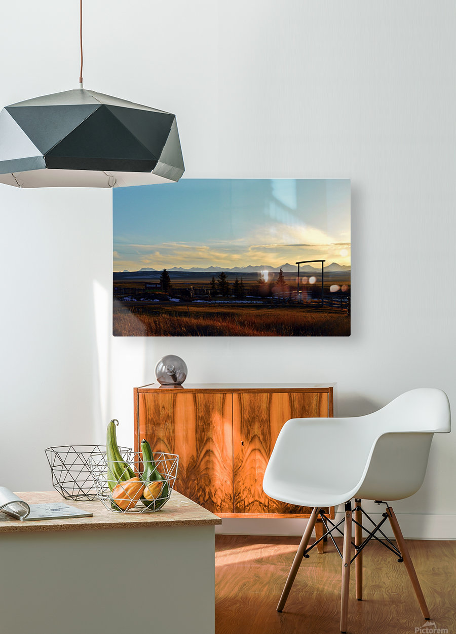 Bloomin  HD Metal print with Floating Frame on Back
