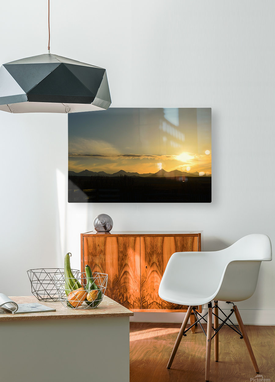 Skyscape   HD Metal print with Floating Frame on Back