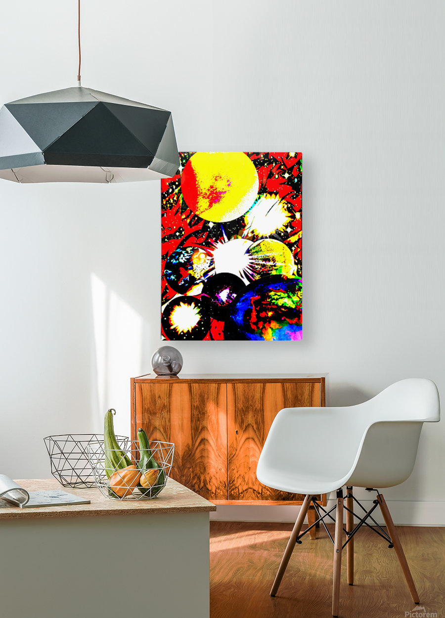 Clash of Worlds  HD Metal print with Floating Frame on Back