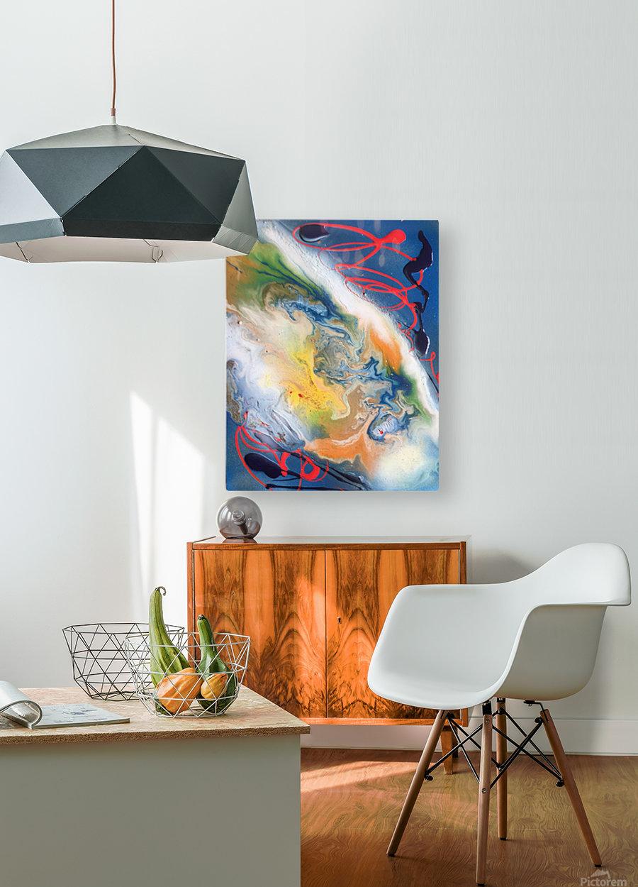 ALPHA  HD Metal print with Floating Frame on Back