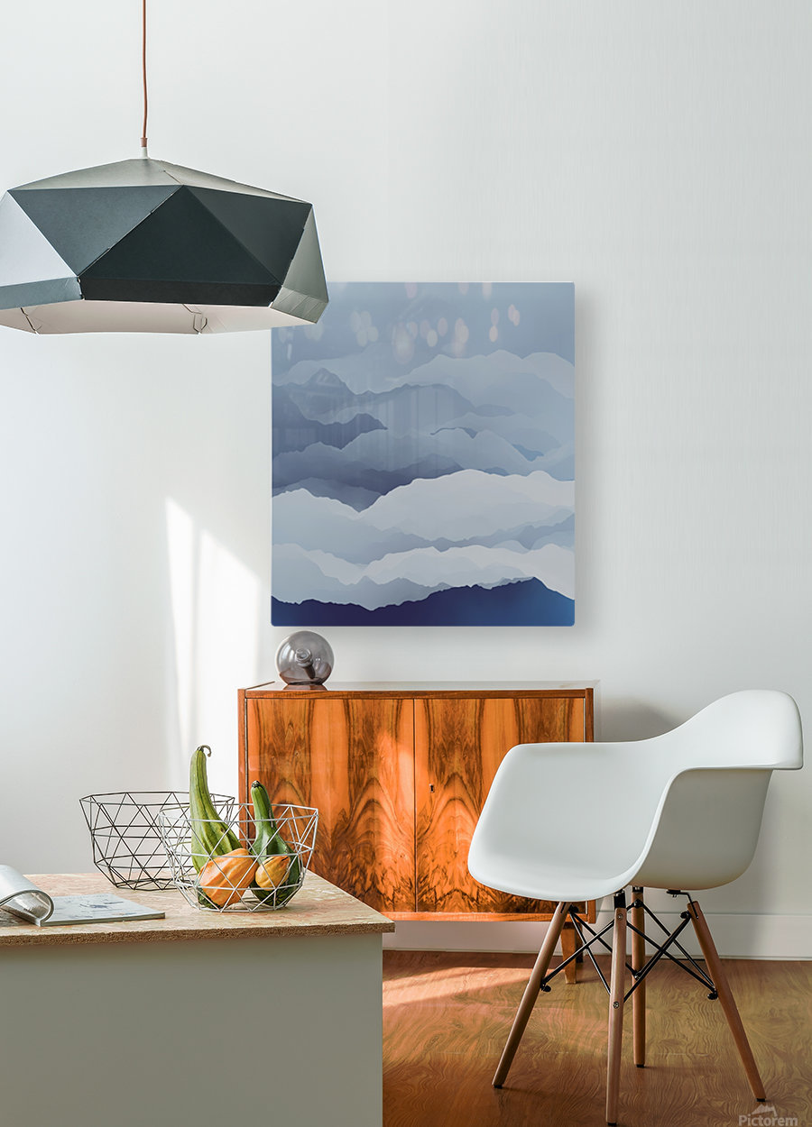 Beautiful Mountains  HD Metal print with Floating Frame on Back