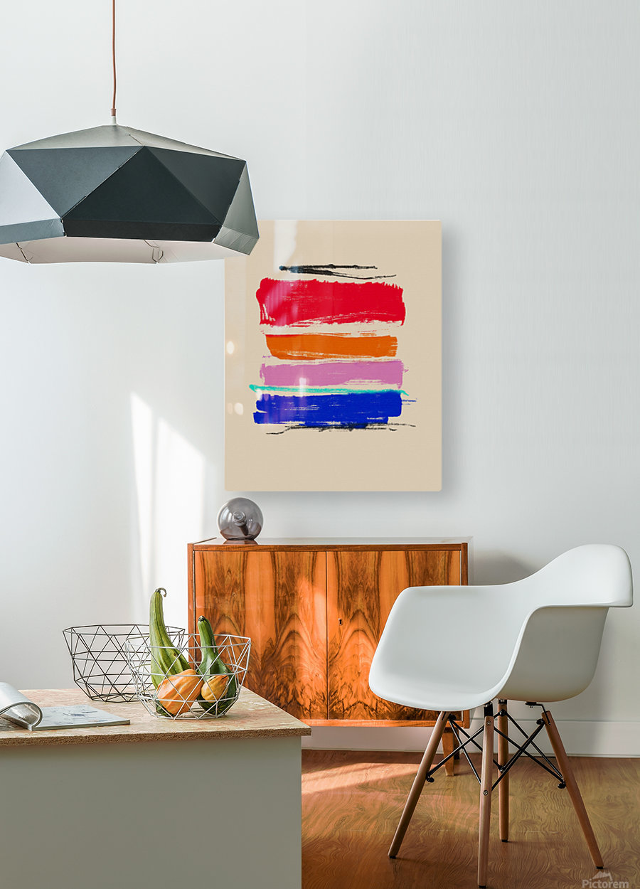 Abstract Composition 782  HD Metal print with Floating Frame on Back