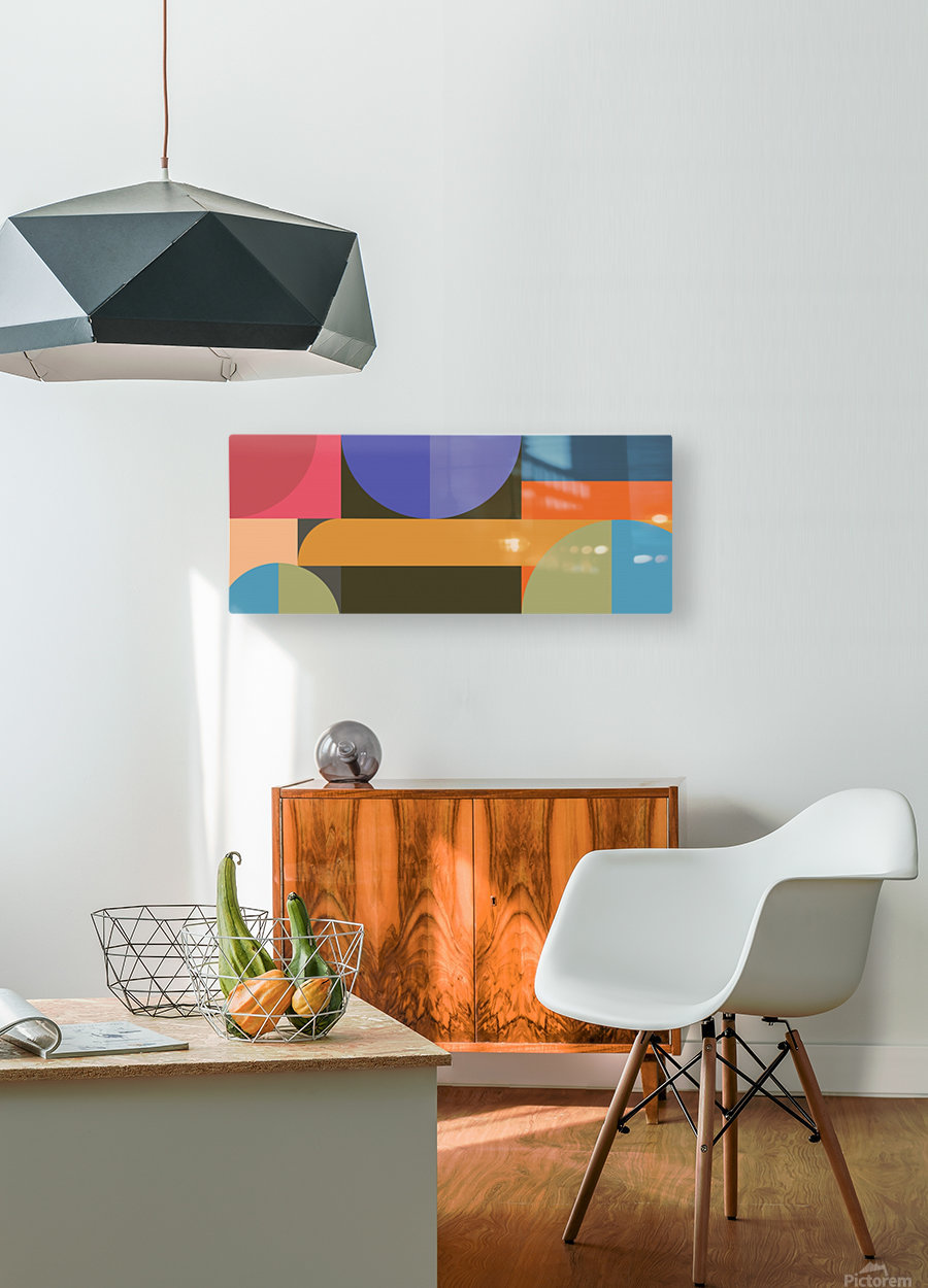 Abstract Composition 783  HD Metal print with Floating Frame on Back