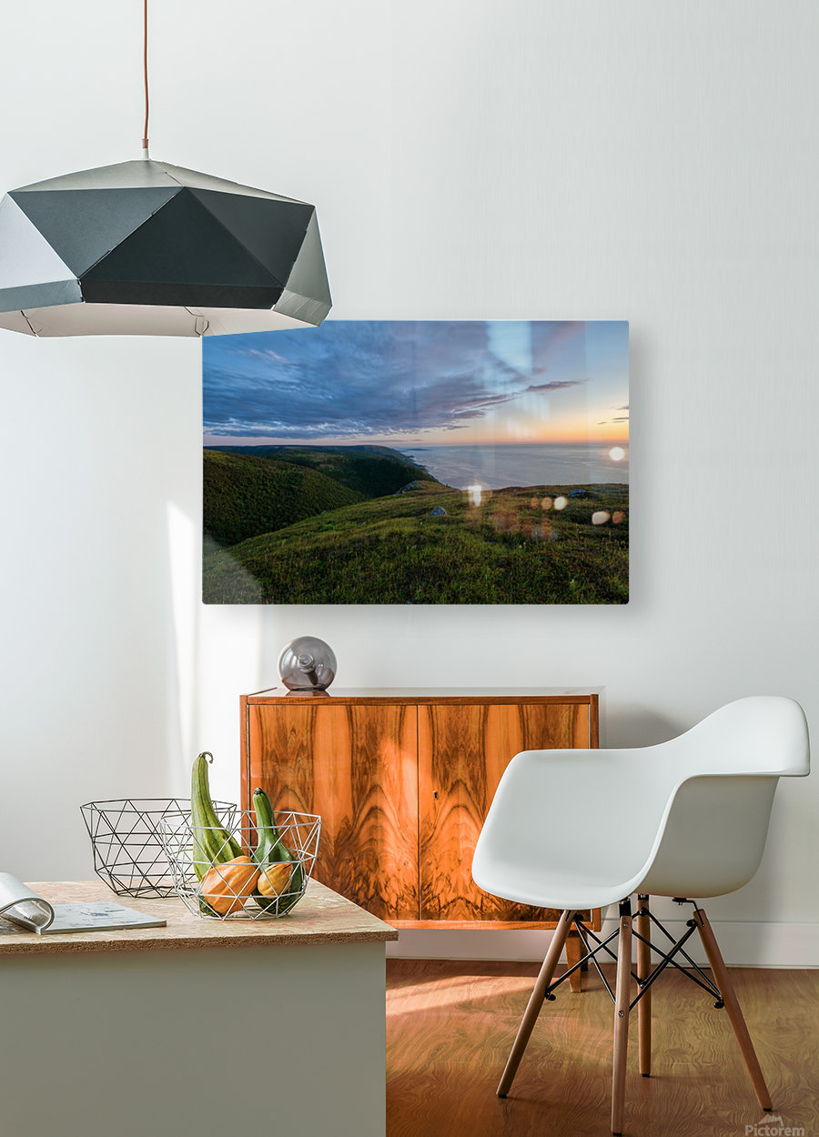 From the top of Blueberry Mountain  HD Metal print with Floating Frame on Back