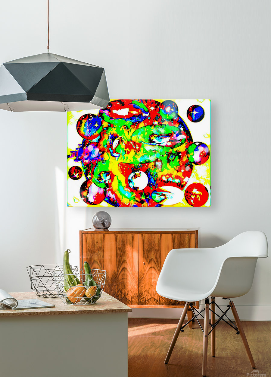 Deep Space  HD Metal print with Floating Frame on Back