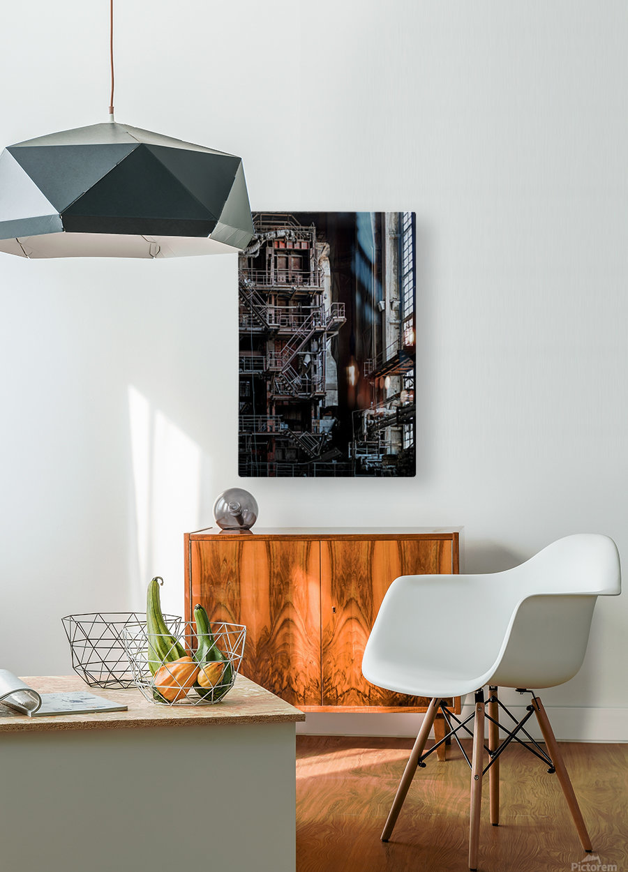 Abandoned Blade Runner Factory  HD Metal print with Floating Frame on Back
