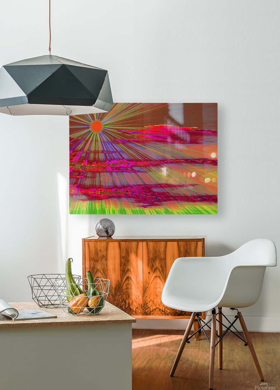 Sunrise In The Klamath Basin 2   HD Metal print with Floating Frame on Back