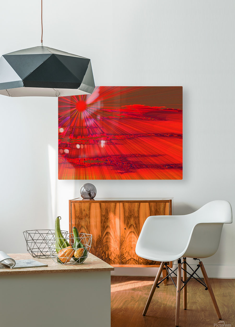 Sunshine In The Klamath Basin 1   HD Metal print with Floating Frame on Back