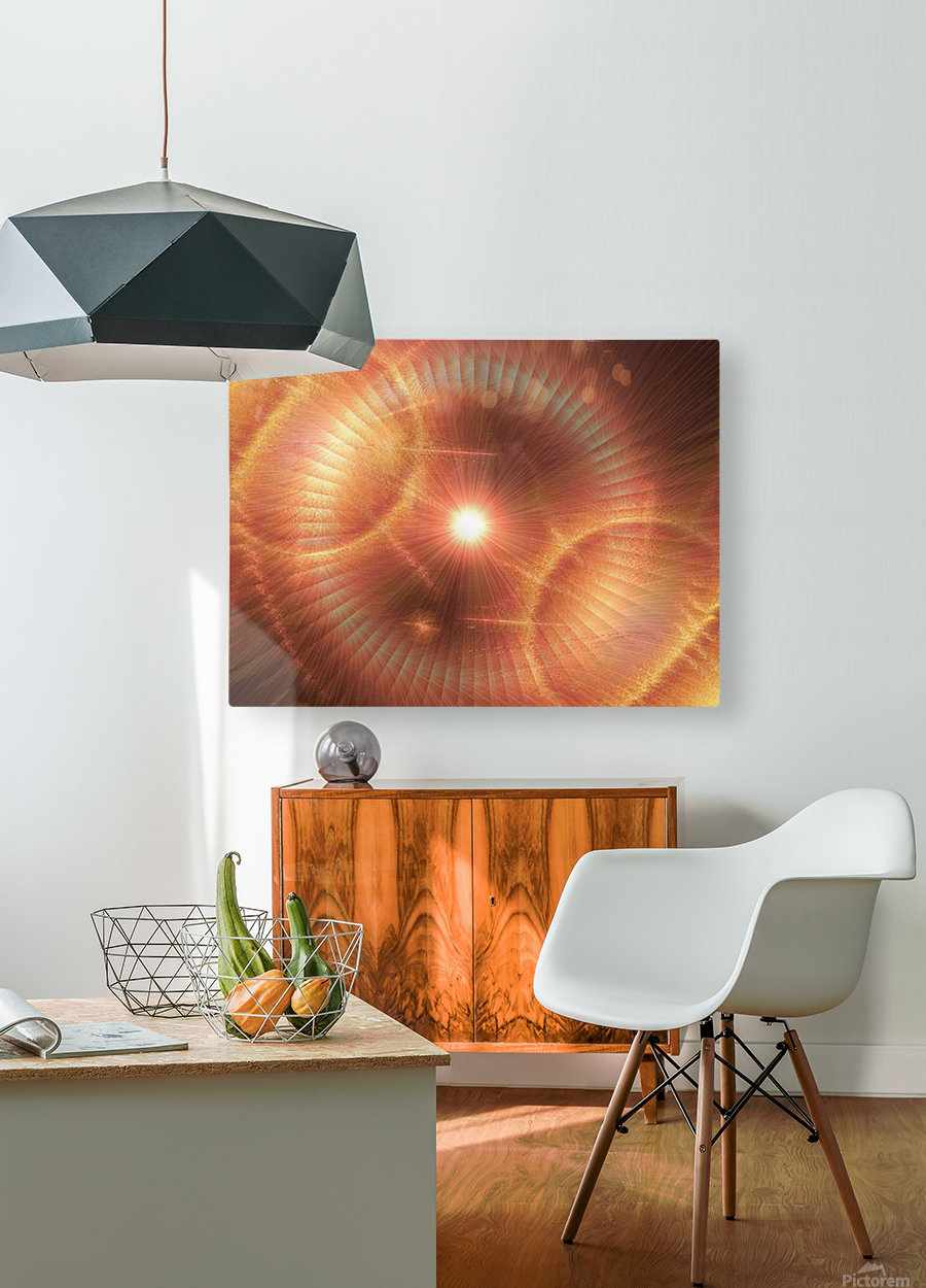 Sun Storm 1  HD Metal print with Floating Frame on Back