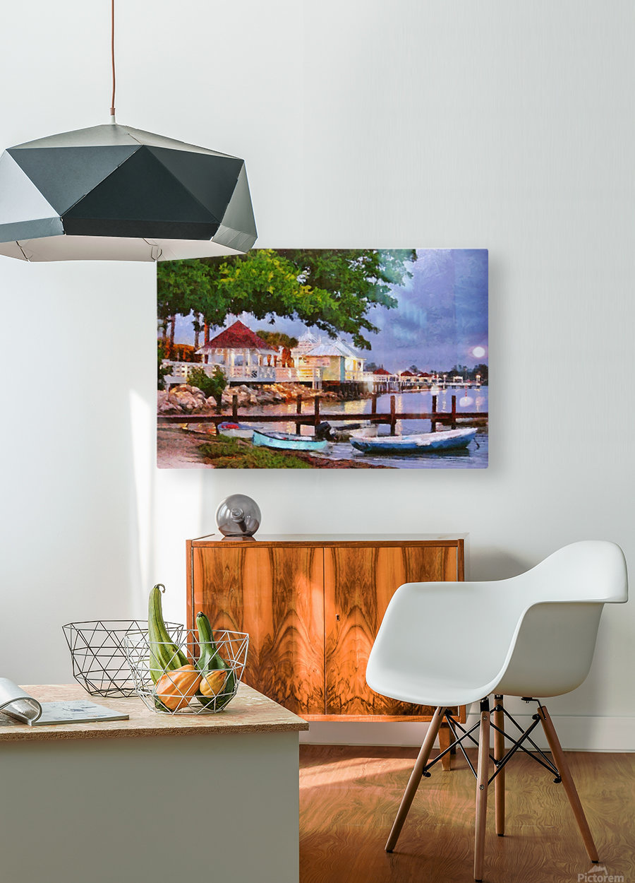The Pier On Bridge Street  HD Metal print with Floating Frame on Back