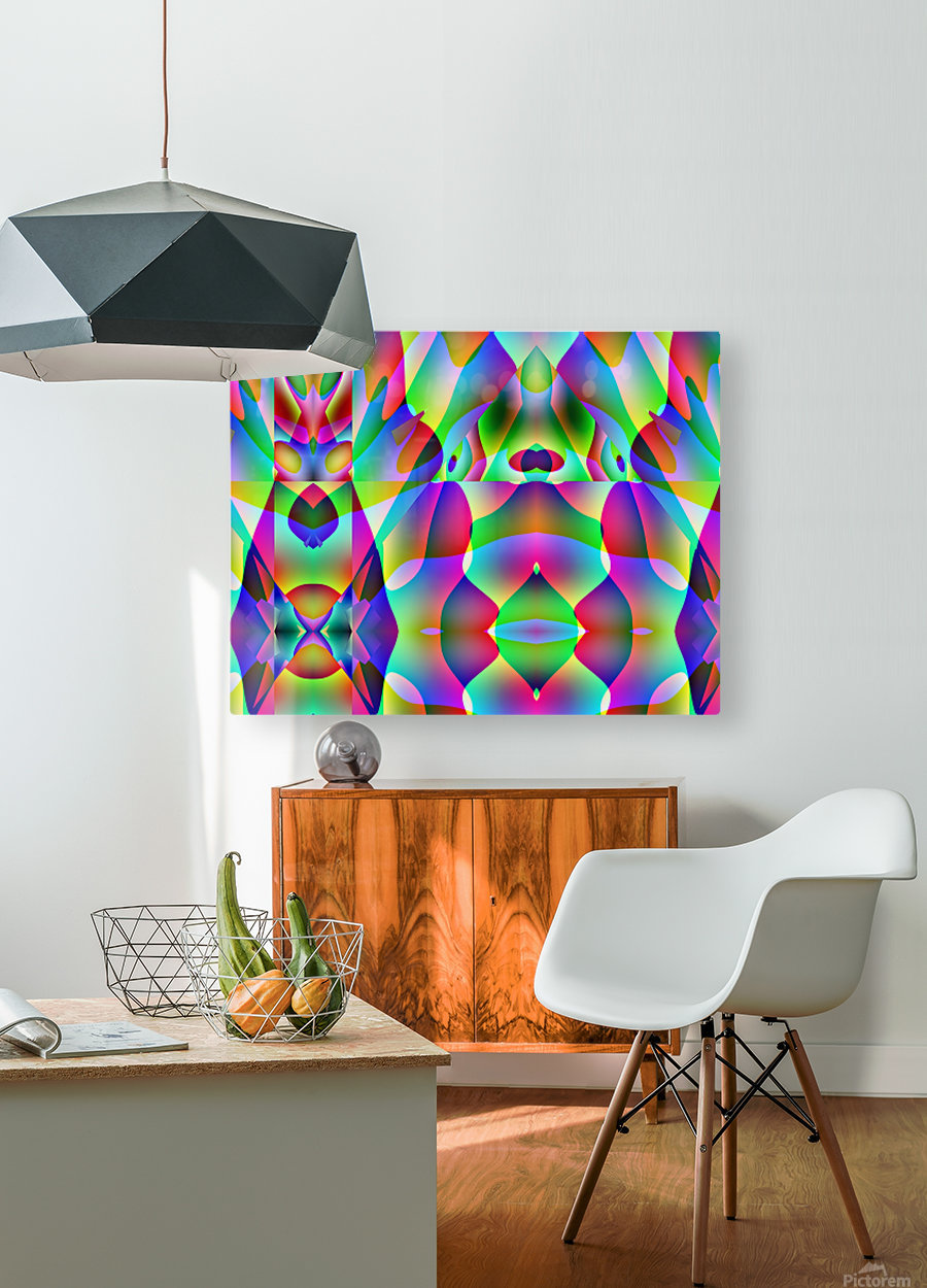 A.P.Polo - Alien  HD Metal print with Floating Frame on Back