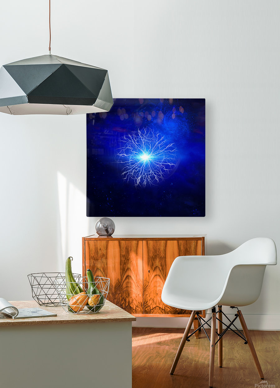 Pure Energy  HD Metal print with Floating Frame on Back