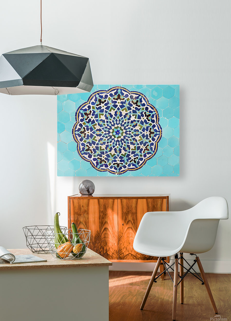 Yazd   Jameh mosque 2  HD Metal print with Floating Frame on Back