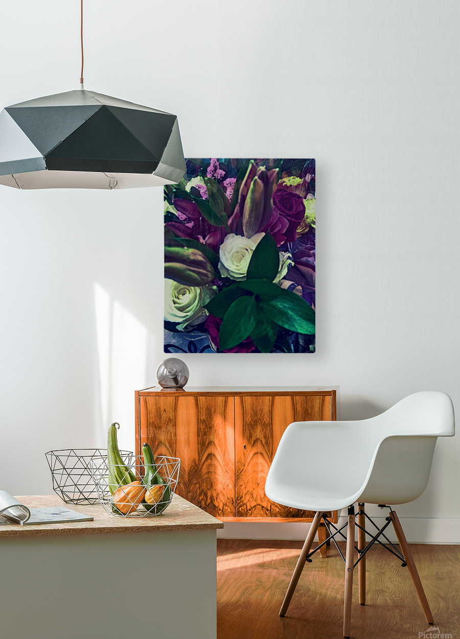 floral  HD Metal print with Floating Frame on Back