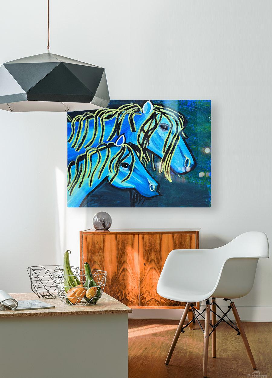 Blue Horse. Glenn N  HD Metal print with Floating Frame on Back