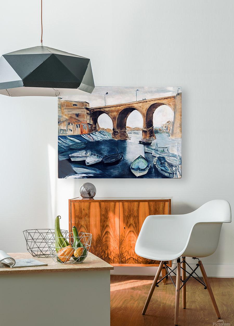 Marseille  Impression métal HD avec cadre flottant sur le dos
