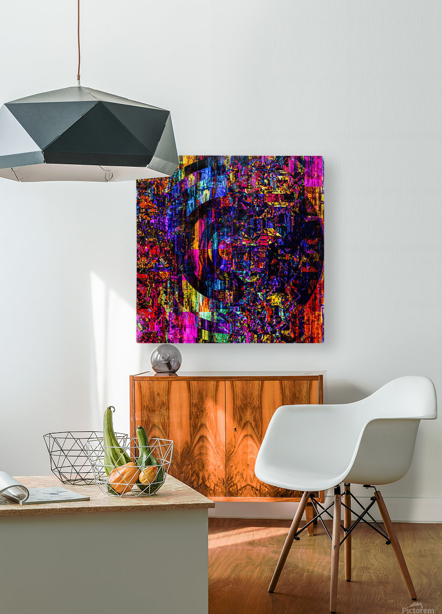 Fargo coloris   HD Metal print with Floating Frame on Back