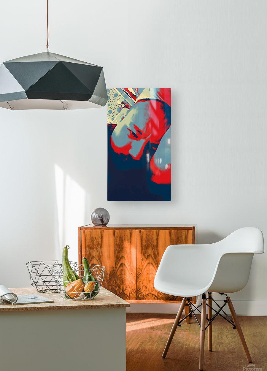 Depression  HD Metal print with Floating Frame on Back