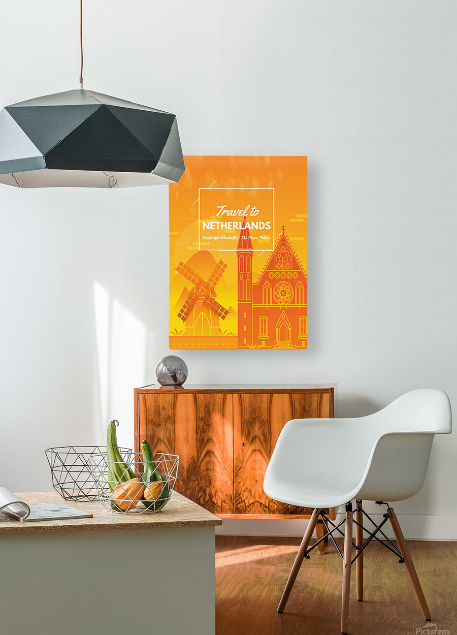 Travel To Netherlands  HD Metal print with Floating Frame on Back