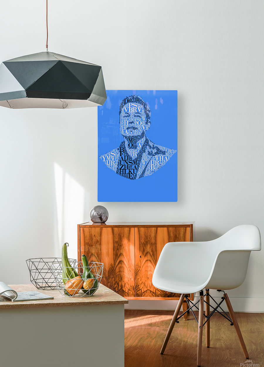 Elon Musk  HD Metal print with Floating Frame on Back