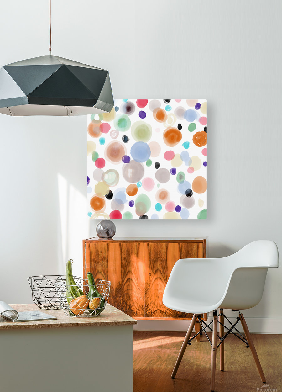 Spring spots  HD Metal print with Floating Frame on Back