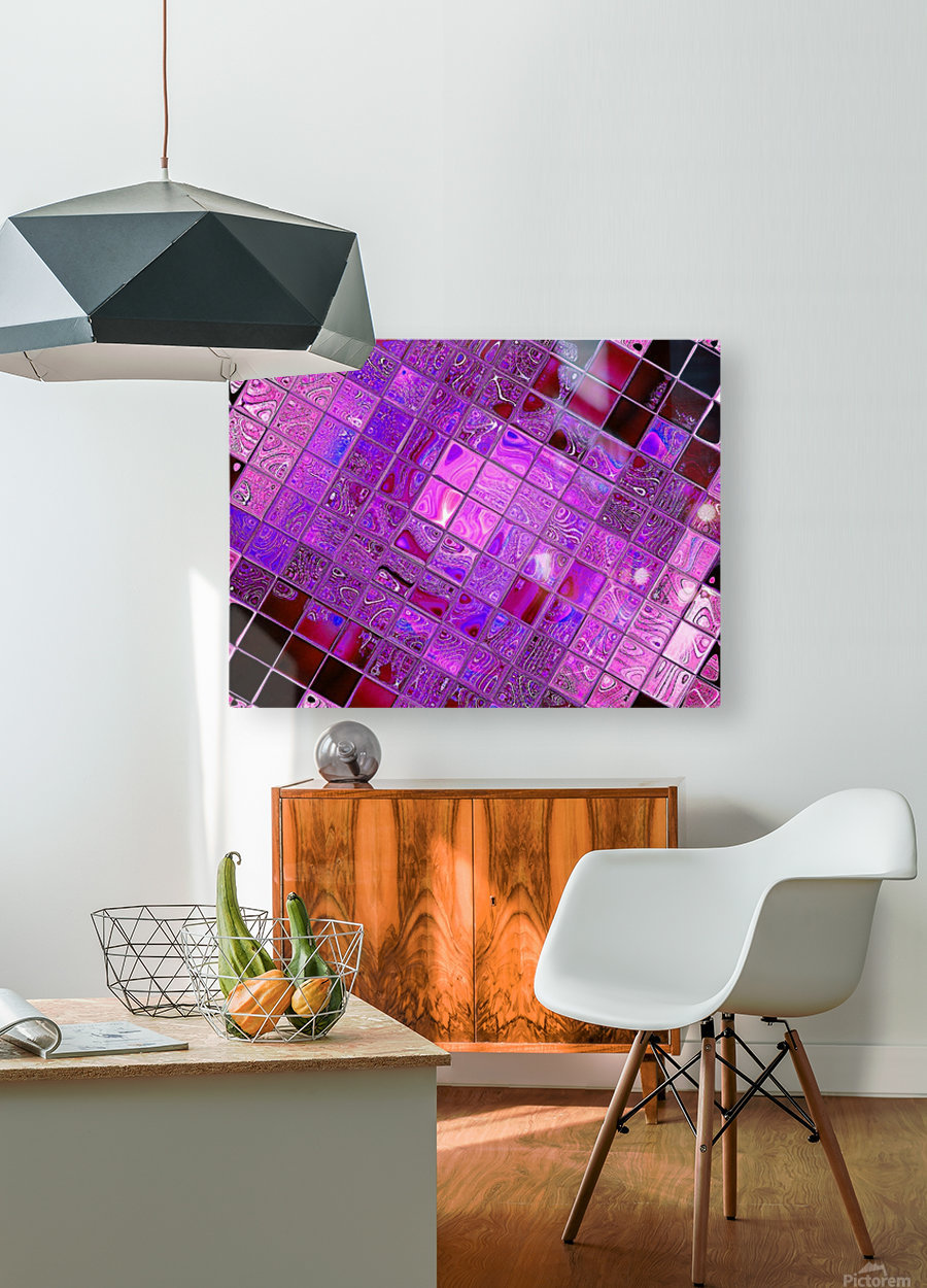 Glass Crystal 3  HD Metal print with Floating Frame on Back