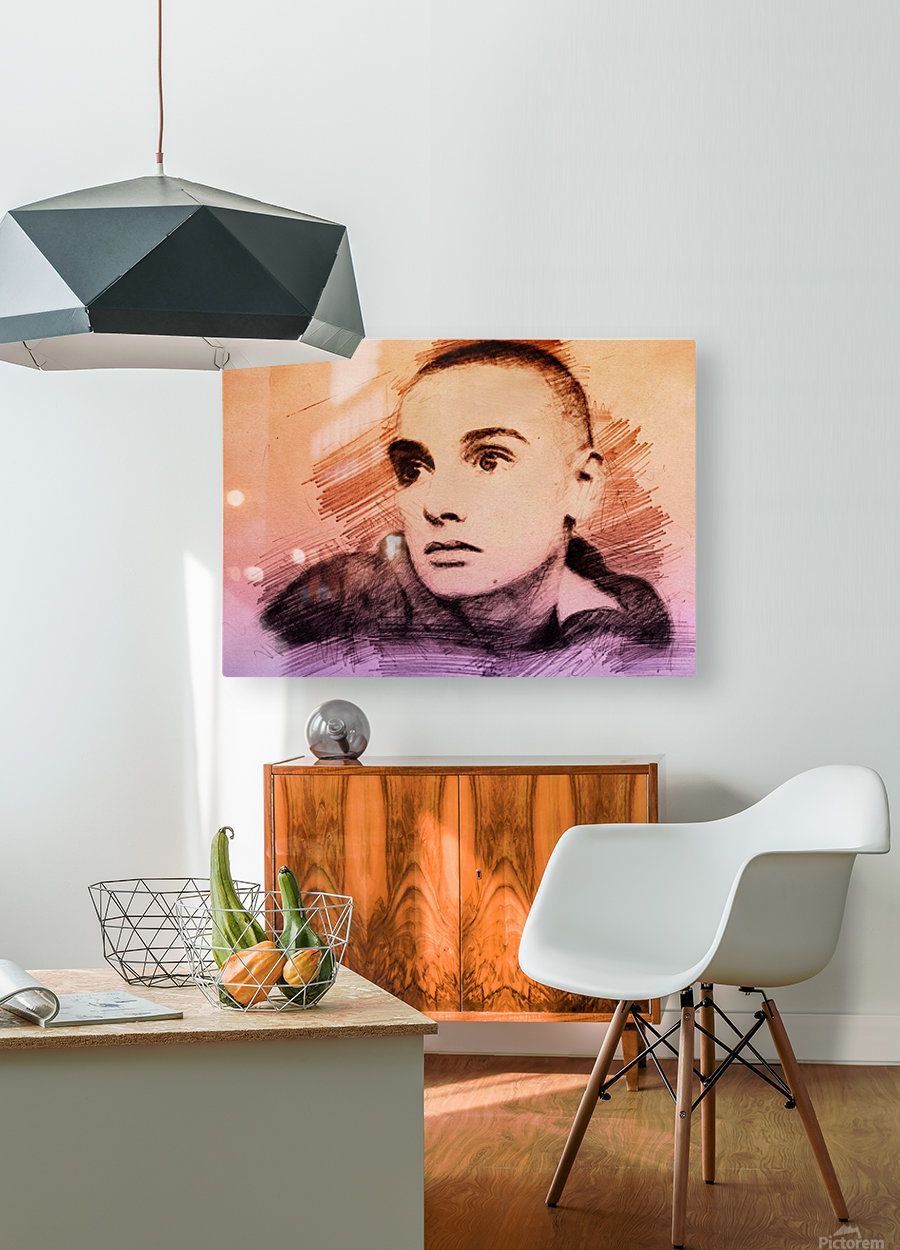 Sinéad OConnor  HD Metal print with Floating Frame on Back
