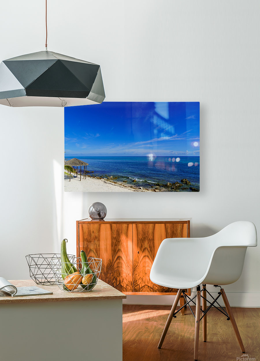 Caribbean Blues at Grand Cayman  HD Metal print with Floating Frame on Back