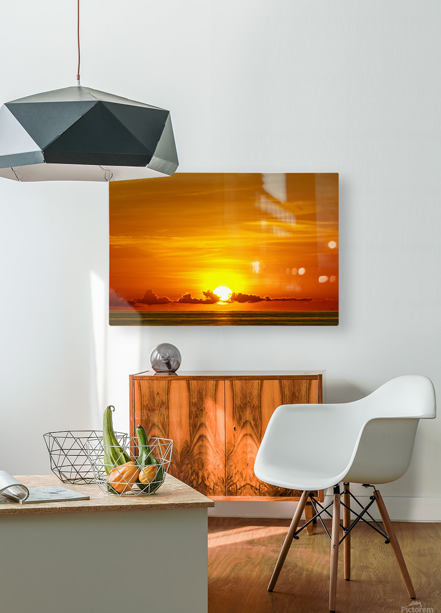 Cayman Sky Art  HD Metal print with Floating Frame on Back