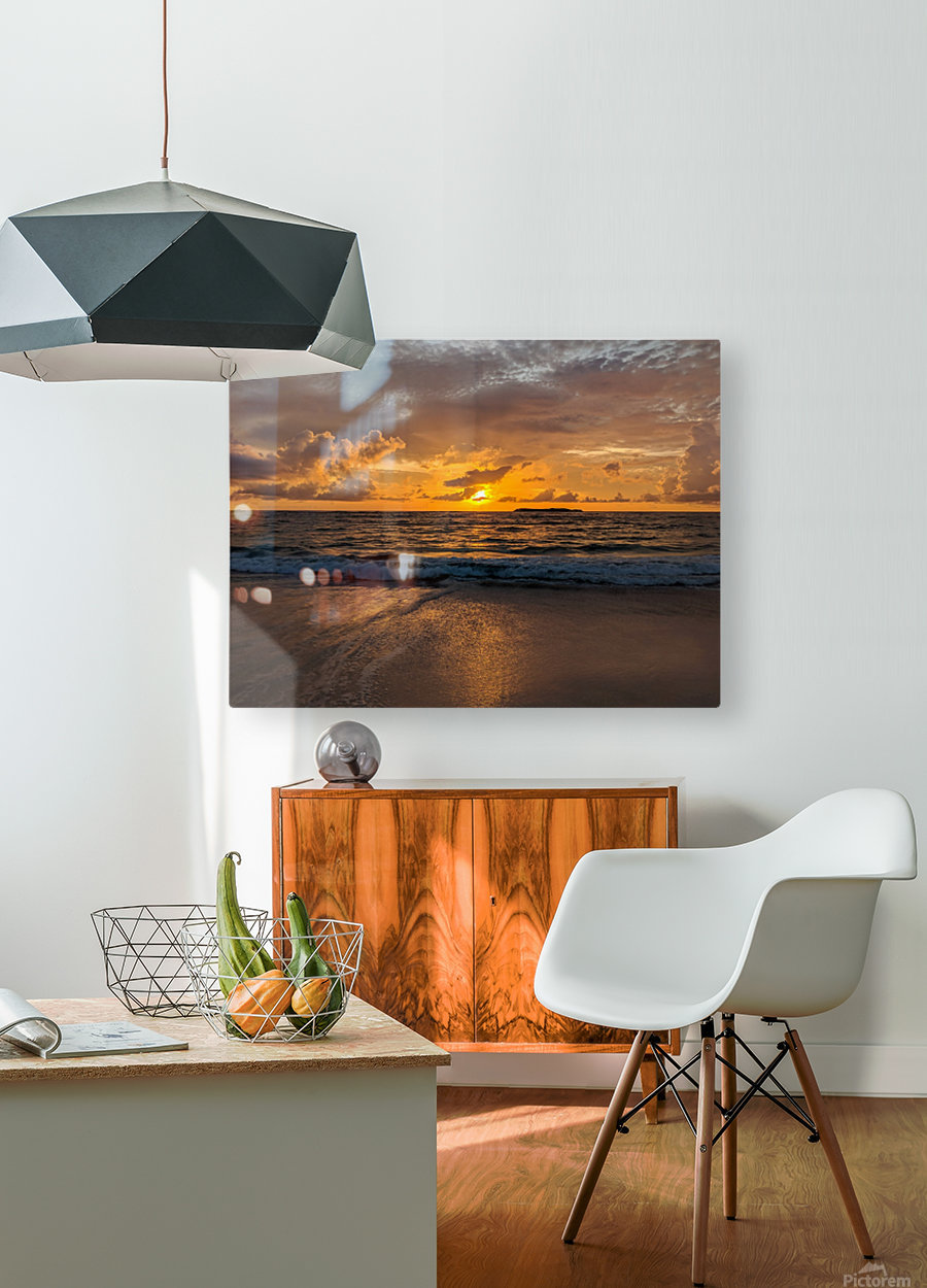 Eleuthera Golden Morning  HD Metal print with Floating Frame on Back
