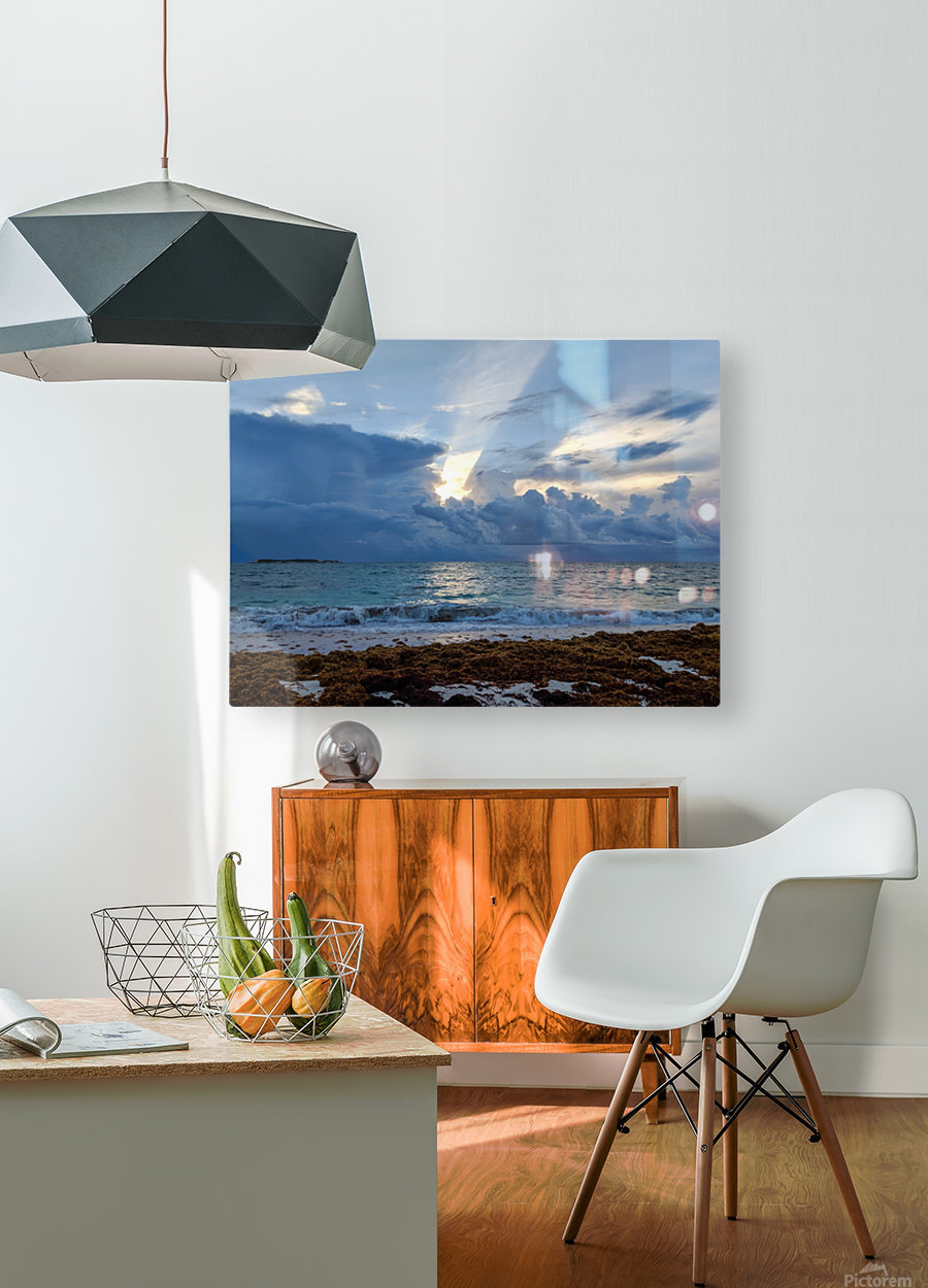 Eleuthera Sun ray  HD Metal print with Floating Frame on Back