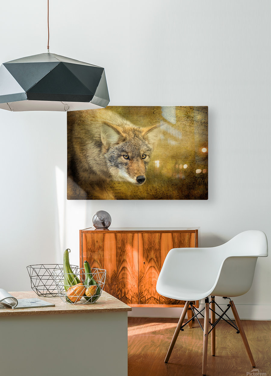 The Hunt  HD Metal print with Floating Frame on Back